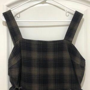 ASOS Pants - ASOS plaid jumpsuit with ruffle detail